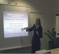 picture of Penny teaching a CPFMod evening class